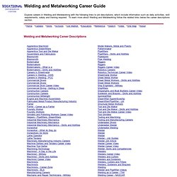 Welding and Metal Arts Career Guide