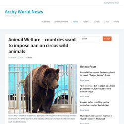 Animal Welfare – Countries Want To Impose Ban On Circus Wild Animals