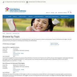 Browse by Topic - Child Welfare Information Gateway