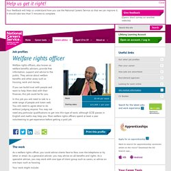 Welfare rights officer Job Information