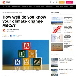How well do you know your climate change ABCs?