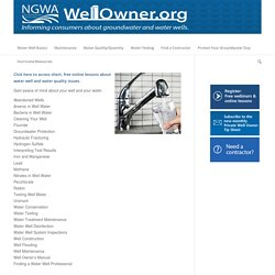 Well Owner Lessons – Wellowner.org