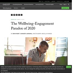 The Wellbeing-Engagement Paradox of 2020