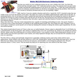 Weller WLC100, Repair, circuit diagram/pcb, and other info