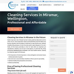 Cleaning Services in Miramar, Wellington