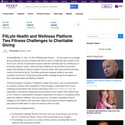 FitLyfe Health and Wellness Platform Ties Fitness Challenges to Charitable Giving