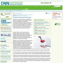 Global Health and Wellness News: Greener chemical cleanups
