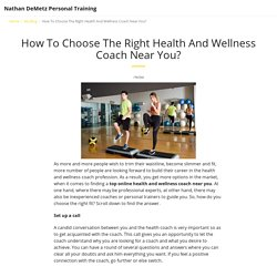 Hire Health And Wellness Coach Near You