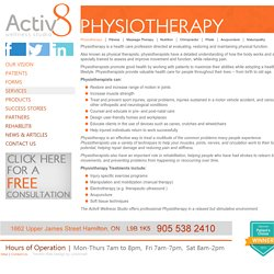 Activ8 Wellness Studio - Physiotherapy