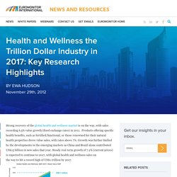 Health and Wellness the Trillion Dollar Industry in 2017