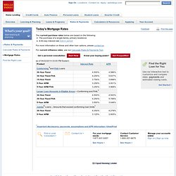Wells Fargo Home Mortgage - Today's Rates