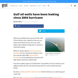 Gulf oil wells have been leaking since 2004 hurricane