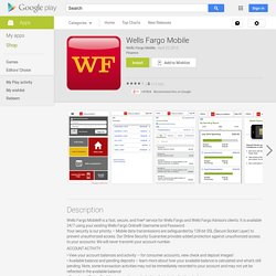 Wells Fargo Mobile - Android Apps on Google Play