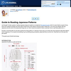Amigurumi: Guide To Reading Japanese Patterns