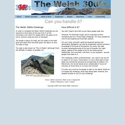 The Welsh 3000s Challenge / 14 Peaks / 15 Peaks
