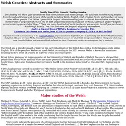 Welsh Genetics - DNA of the Celtic people of Wales