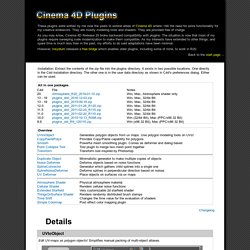 Welters Cinema 4D plugins