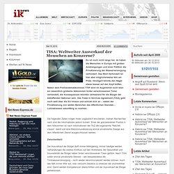 TISA: Weltweiter Ausverkauf der Menschen an Konzerne?
