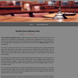 Wendell Jones Fighting Fraud