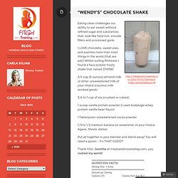 """Wendy's"" Chocolate Shake"
