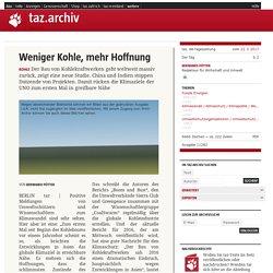 Weniger Kohle, mehr Hoffnung - taz.de