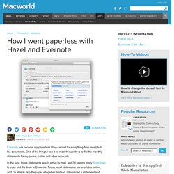 How I went paperless with Hazel and Evernote