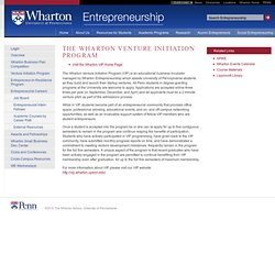 WEP - Venture Initiation Program