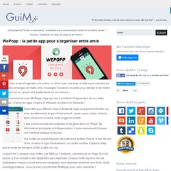 WePopp : la petite app pour s'organiser entre amis
