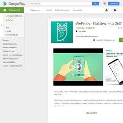 WeProov - État des lieux 360° – Applications sur GooglePlay