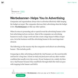 Werbebanner- Helps You In Advertising