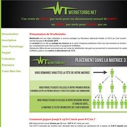 Werbeturbo - une rente de 1400 euros/mois pour 8 euros/an