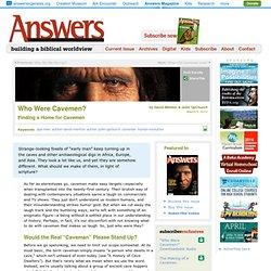Who Were Cavemen