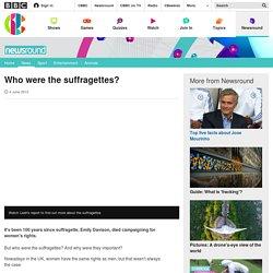 Homework: Who were the suffragettes? CBBC Newsround