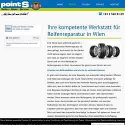 Werkstatt für Reifenreparatur in Wien