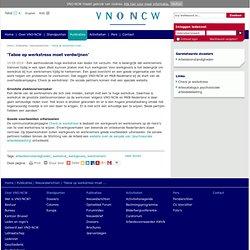 'Taboe op werkstress moet verdwijnen' - Nieuws VNO-NCW Online