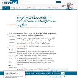 Engelse werkwoorden in het Nederlands: algemene regels voor spelling en vervoeging