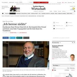 """Hans-Werner Sinn im Abschiedsinterview: """"Ich bereue nichts"""""""