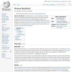 Werner Buchholz
