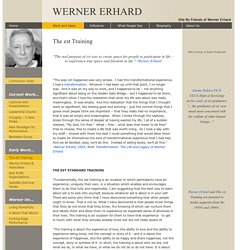 Werner Erhard and the est Training