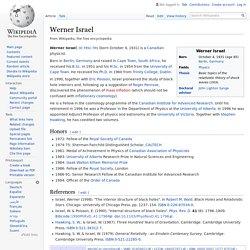 Werner Israel - Wikipedia