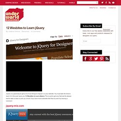 12 Wesbite to Learn jQuery