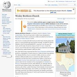 Wesley Brethren Church - Wikipedia