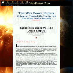 Level II] Exopolitics Paper #1: The Orion Empire
