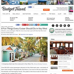 Key West Florida Cruise Travel Tips