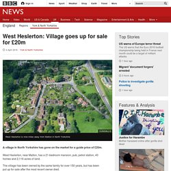 West Heslerton: Village goes up for sale for £20m