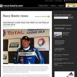 Westbrook Claims Pole for Spirit of Daytona at Laguna Seca