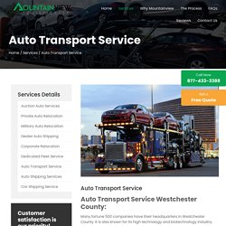 Auto Transport Service in Westchester County