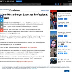 Jaime Westenbarger Launches Professional Website