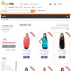 Ladies Designer Tops India - Orangesell