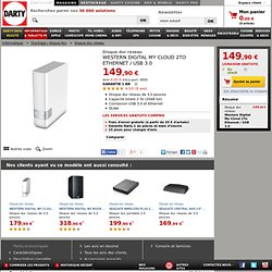 Disque dur réseau Western Digital MY CLOUD 2 To Ethernet (1398890)